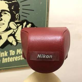 Nikon 1 J1 Red Leather Body Case Set