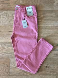 [readystock] Primark girls skinny fit denim trousers with adjustable waist