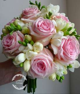 """Pastal Roses"" Bridal Bouquet"