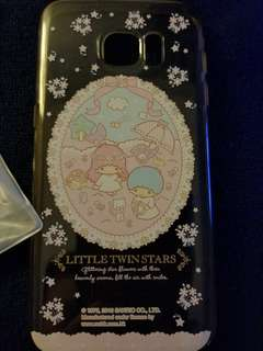 s6edge little twin star粉紅透明殼