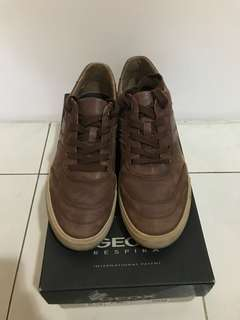 Geox Vulcano Brown Casual Leather Shoes