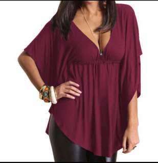 Batwing Maroon Blouse.
