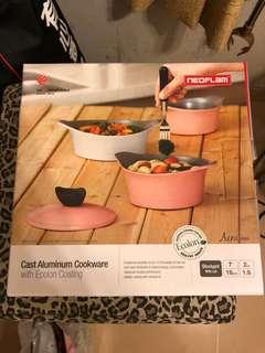 NEOFLAM韓國造AEMI系列粉紅7吋18cm陶瓷塗層鋁製煲