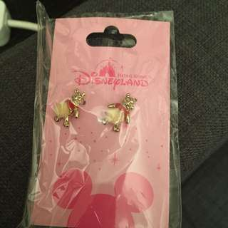 HK Disneyland authentic Winnie the Pooh earrings limited edition