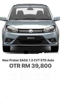 New Proton Saga 1.3 CVT Auto