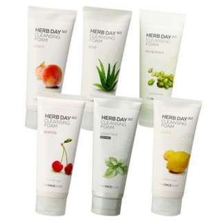 THE FACE SHOP 365 HERB DAY CLEANSER FOAM