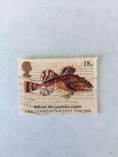 1988 linnean society 英國郵票一套四款