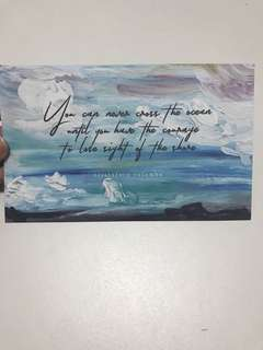 BRAND NEW Inspirational Quote Cross the Ocean Postcard