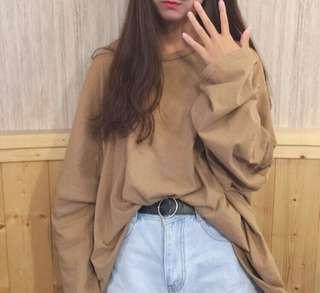 🚚 (原價900)oversize剪口寬鬆長袖上衣