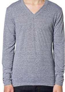 American apparel Tri-blend Long sleeve v-neck t-shirt