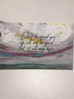 BRAND NEW Inspirational Quote Don't be Afraid Postcard