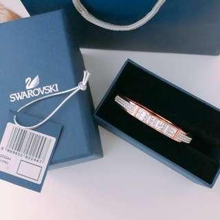 全新玫瑰金水晶石Swarovski brand new bracelet rose gold