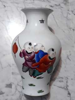 "Old Porcelain Vase 12"" hight 老瓷器花瓶"