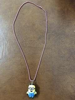 H&M minion necklace