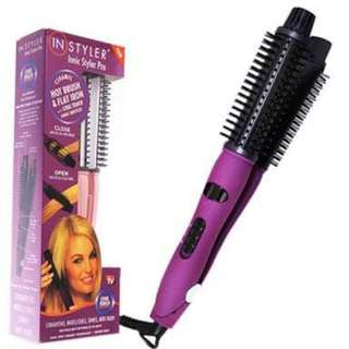 4 in 1 InStyler Ionic Styler Pro Ionic Hot Brush & Ceramic Flat Iron Straightener & Curler