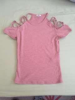 XS garage open-shoulder shirt
