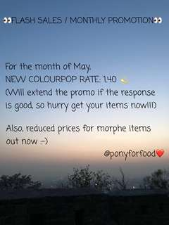 (❤️MAY MONTHLY PROMO) COLOURPOP ALL ITEMS NEW RATE AT 1.40 UPDATED PO LOWEST ON CAROUSEL