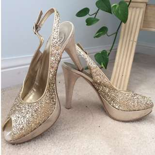 sparkly gold shoes!