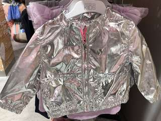 Cotton on kids silver bomber jacket