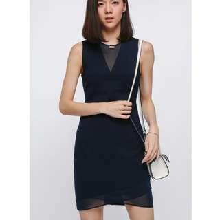 Love Bonito Golnaz Mesh Cutout Dress (Black)