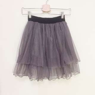 🚚 藕紫灰色紗裙