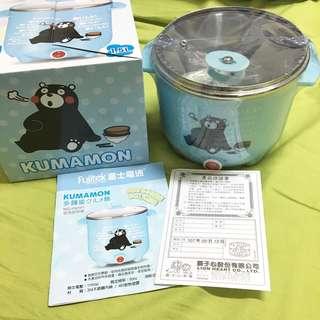 🚚 KUMAMON Fujitek富士電通雙層防燙不鏽鋼美食鍋