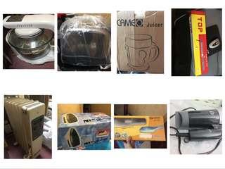8樣家電超抵價!多士爐/熨斗/光波爐/熨髮夾/暖爐/蒸氣熨/榨汁機/風筒