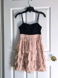 H&M - Black & Peach Frilly Dress