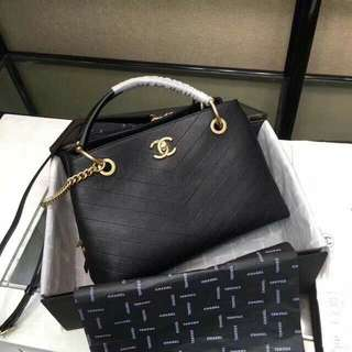Chanel zipped bag