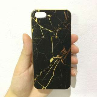 Soft Case Gold Black Marble Iphone 5s