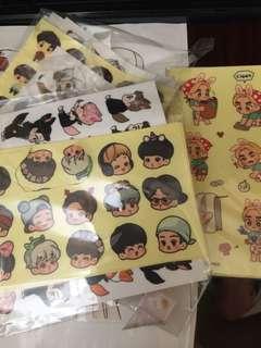 EXO高質飯制貼紙