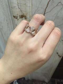 Bvlgari 寶格麗 DIVA全鑽戒指