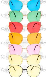 Butterfly wing sunglasses