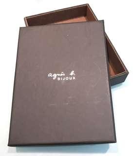 正版 agnes b. 盒 (BIJOUX 銀器專用)