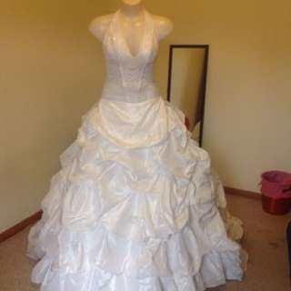 Ivory wedding dress small
