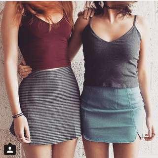 instock authentic brandy melville emilia skirt checkered