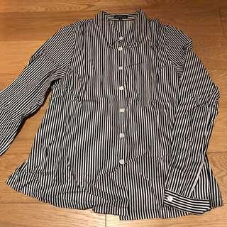 Ann demeulemeester strip shirts
