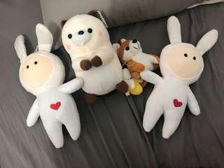 🚚 玩偶娃娃合售*4