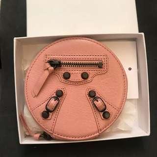 [👛 💯%New 全新] Authentic Balenciaga Pink Round Coin Purse  正品巴黎世家圓形粉紅色散子包