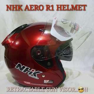 NHK Helmet AERO R1 WINE RED