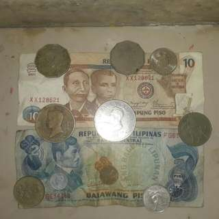 Phillippine old coins and paper