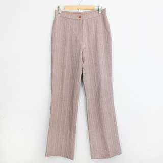 Vintage Style Dusty Pink Pinstriped Pants