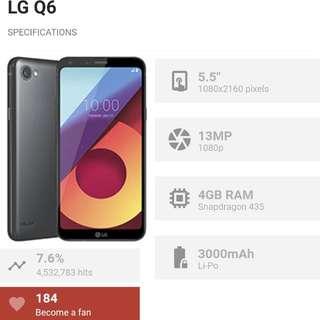 LG Q6 Gold 32 Gb