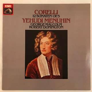 Corelli 12 Sonatas op.5 Yehudi Menuhin EMI 151-03767/68 2-LP album