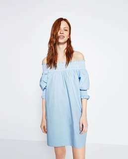 ZARA - off the shoulder dress