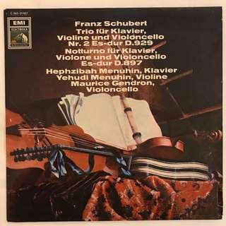 Schubert Trio 2 & Notturno Yehudi Menuhin EMI C063–01927