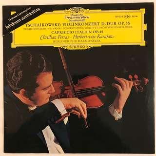 Tchaikovsky Violin Concerto Capriccio Italien Ferras & Karajan DG 139028