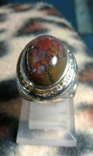 Multi colour lumut agate