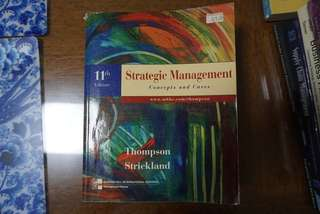 Strategic Management : Concepts and Cases Thomas Strickland 11th Edition