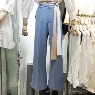 Periwinkle Tailored Wide Pants
